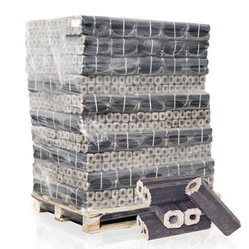 PALIGO PiniKay Holzbriketts Hartholz Buche Eiche Kamin Ofen Brenn Holz Heiz Brikett 10kg x 96 Gebinde 960kg / 1 Palette HEIZFUXX