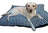 Milanino XXL Hundekissen für große Hunde | beidseitiges Kissen | Hundebett | Hundematte | Hundematraze (Groß)