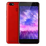 Oasics C9 Plus 5,2 Zoll Smartphone ,Dual SIM Android 6.1 Smartphone 512M + 4G Quad-Core 3G Anruf-Mobiltelefon Speicher: 512M RAM + 4G ROM erweiterter Speicher 32G (Rot)