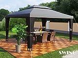 Luxus Rattan Pavillon (Schwarz/Anthrazit)