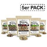 Räuchergarten Premium 5-er Set Räucherchips - 4,8 kg BBQ Mix (Eiche, Buche, Hickory, Erle, Kirsche) - nur 7,9 Euro pro kg! - 100% natürliches Räucherholz