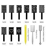12/Set Katze Augen 3D Magnet Stick 12 Styles wählen Magnet Zeichnen Vertikal Stick für Nagellack-Gel 3D Magische Nagel Werkzeug