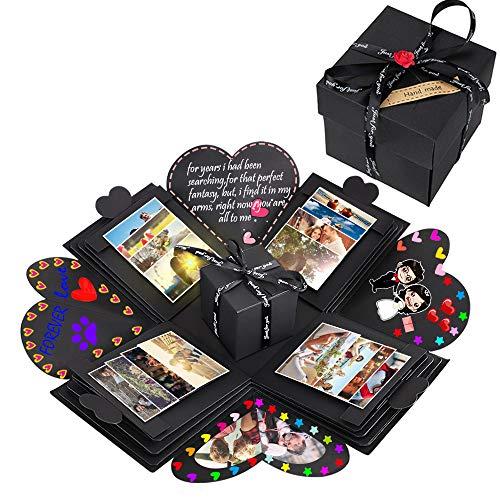 NEUFLY Überraschung Box, Kreative DIY Faltendes Fotoalbum Handgemachtes Scrapbook Geschenk Explosion Box für Geburtstag, Christmas, Jahrestag, Valentinstag, Heiratsantrag, Hochzeit, Muttertag