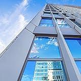 Homein Spiegelfolie Selbstklebend Sonnenschutzfolie Sichtschutzfolie Fensterfolie Spiegel Tönungsfolie Kratzfest Wärmeisolierung UV-Schutz Silber 44.5 x 200 cm