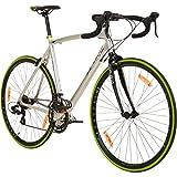 Galano 700C 28 Zoll Rennrad Vuelta Sti 4 Rahmengrößen 2 Farben, Farbe:grau/grün, Rahmengrösse:62 cm