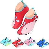 katliu Badeschuhe Wasserschuhe Strandschuhe Mädchen Jungen Schwimmschuhe Barfußschuhe Surfschuhe Kinder Baby Aqua Schuhe,Rot 30
