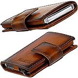 Figuretta Premium Leder RFID Geldbörse London - Praktisches smart Wallet mit Aluminium Kreditkarten-etui und Münzfach (Braun)