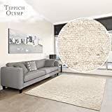 Hand-Web-Teppich 'Amrum'   Handgewebte Schurwolle im modernen Design   Fürs Wohnzimmer, Esszimmer, Schlafzimmer oder Kinderzimmer   weich, mehrfarbig (Beige - 170 x 230 cm)