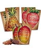 Getrocknete Früchte als 6er Set Fruchtpapier (6x 40g) – Frucht Snack aus Ananas, Apfel, Mango, Erdbeere luftgetrocknet – Trockenobst Dörrobst Superfood für Büro, Snack, Frühstück