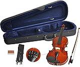 Handgearbeitetes Steinbach Geigenset in der Größe 4/4 inkl. Geigenbogen, Geigenkoffer und Kolophonium Anfängergeige Geige Kinder Erwachsene