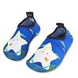Kinder Badeschuhe Wasserschuhe Strandschuhe Schwimmschuhe Aquaschuhe Surfschuhe Barfuss Schuh für Jungen Mädchen Kleinkind Beach Pool(Blau 22 23)