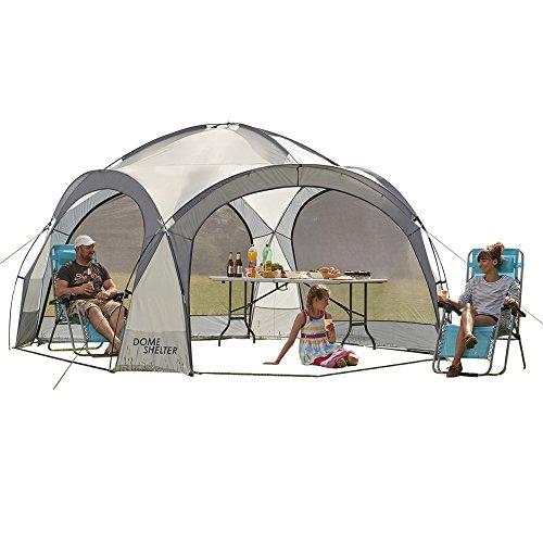 Clifford James - Outdoor-Event-Kuppelzelt, UV-Schutz-Partyzelt mit Seitenteilen für Strand, Festivals & Camping