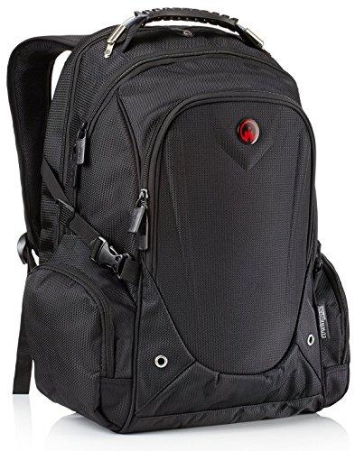 Laptop Rucksack, Edwardian von Camden Gear. Für Arbeit, Männer und Damen. Schule oder Uni Laptoprucksack. Wasserdicht 17 und 15 Zoll . Schwarz