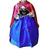 Cacilie Prinzessin Kostüm Kinder Glanz Kleid Mädchen Weihnachten Verkleidung Karneval Party Halloween Fest (100 (Körpergröße 100cm), Anna #07)