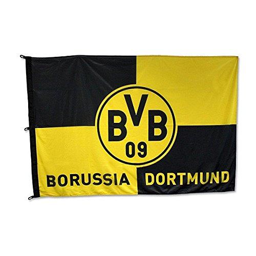 BVB 09 Borussia Dortmund Hissfahne Karo 120 x 180 cm Fahne Flagge 11000400