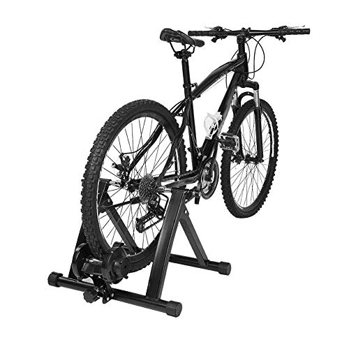 GOTOTOP Fahrrad Rollentrainer, Faltbarer Stahl Indoor Rollentrainer für Fahrräder mit Magnetbremse Rolle, 55 * 47 * 38,5 cm