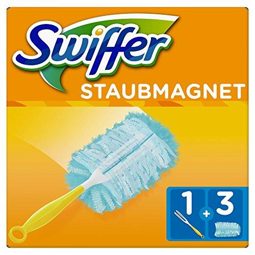 Swiffer Staubmagnet Set 1Griff plus 3Ersatztücher, 1er Pack (1 x 1 Stück)