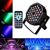 U'KING PAR Licht mit Fernbedienung 36 LED Scheinwerfer Bühnenbeleuchtung DMX512 RGBW Lichteffekt Partylicht mit Fernbedienung
