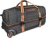 normani Reisetasche mit Rollen und großem Stauraum - mit Trolley-Funktion Farbe Orange