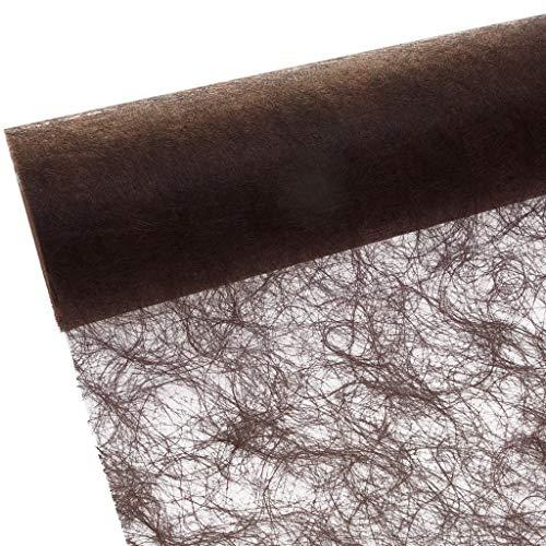 Sizoflor Tischband - 25 Meter Rolle + 100 Dekoherzen Gratis (30cm Breite, Braun - Schokolade)