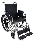 Zusammenfaltbarer Rollstuhl mit Selbstantrieb | Mit herunterklappbare Armlehnen und herausnehmbare Fußstützen | Hohe Sicherheit und einfache Bedienung | Sitzbreite 46 cm | Maximale Belastbarkeit 100 kg | Giralda Modell | Mobiclinic