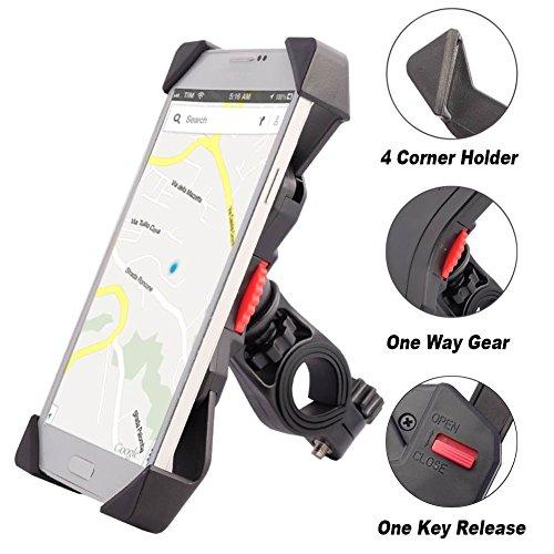 Anti-Shake Fahrradhalterung Motorrad Handy-Halter Universal Radsport Verhütung Von Abstürzen Fahrrad-Lenker Handyhalter Wiege Klammer Mit 360 Drehen Für 3,5-6,5 Zoll Smartphone GPS Andere Geräte