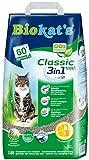 Biokat's Classic Fresh 3in1 Katzenstreu mit Frühlingsduft, Hochwertige Klumpstreu für Katzen mit 3 unterschiedlichen Korngrößen, 1 Papierbeutel (1 x 18 L)