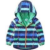 umkaumka Softshell Jacke für Kinder Fleece gefüttert mit Kapuze Gr.86, Softshelljacke Jungen Mädchen Übergangsjacke mit Reflektoren