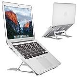 EC Technology Laptop Ständer, Höhenverstellbar Alulegierung Cooling LaptopStänder, Verbesserte Tablet Halterung Stand Halter Kompatibel mit (9-15 Zoll) Notebook, Apple MacBook, iPad, Surface, Silber