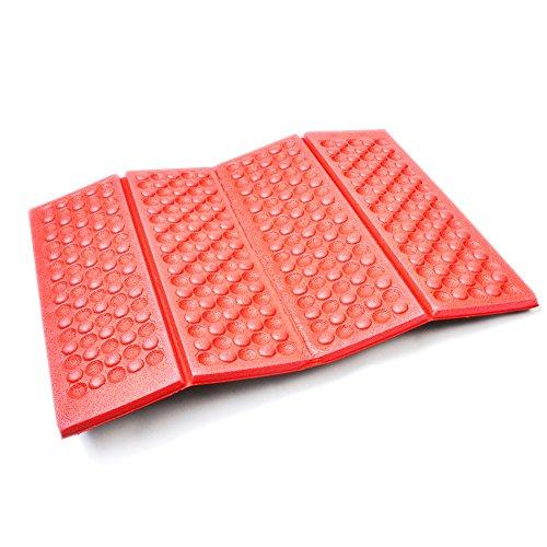 AceCamp Faltbares leichtes Thermo Sitzkissen Iso-Sitzmatte wasserdicht isolierend, 40 x 30 x 1 cm, 2 Stück, Rot, 39402