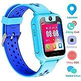 Kinder Uhren Smart Watch für 3-12 Jahre alte Jungen Mädchen Kinderuhr mit SOS Kamera Spiel Smartwatch Birthday Gift (Blau)