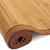 Homestyle4u 196, Bambusteppich Bambusmatte rutschfest Mit Bordüre, Braun, 120 x 180 cm