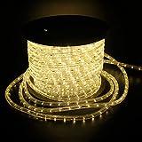 SPEED 30Meter LED Lichterschlauch Lichterkette Schlauch Leiste Außen und Innen Warmweiß