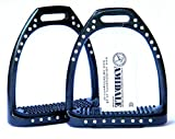 Amidale aluminium-leichtgewicht-steigbügel Reiten 44 Kristalle/Strass… - Schwarz, 4.75
