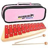 Sonor NG10 NG-10 Glockenspiel für Kinder + Keepdrum Tasche Pink