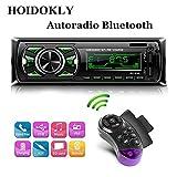 Hoidokly Autoradio mit Bluetooth Freisprecheinrichtung, 60W x 4 Single Din Universal Autoradio FM Empfänger Eingebautes Mikrofon, Universal MP3 Player Unterstützung USB/TF/AUX/WMA/WAV + Fernbedienung
