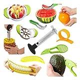 Multifunktionale Fruchtschneide : Edelstahl Ananasschneider, Wassermelonen Schäler Schneider , Avocado Slicer, Banana Slicer, Orangenschäler, Apfel Slicer.