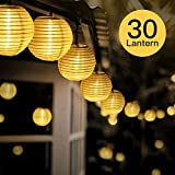 FYLINA Warmweiß Solar Lichterkette Lampion,6.5m 30 LED Solar Outdoor Laterne (1) (4)