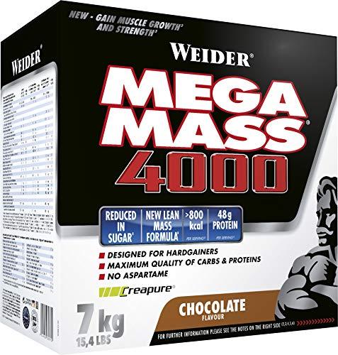 Weider, Mega Mass 4000, Schoko, 1er Pack (1 x 7 kg)