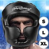 Physionics Kopfschutz für Boxtraining oder -Kampf | Boxhelm für Kampfsport, MMA, Boxen, Kickboxen & Sparring, Größenwahl S-XL, in Schwarz | Schutzhelm