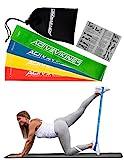 Fitnessbänder Set 4-Stärken by ActiveVikings - Ideal für Muskelaufbau Physiotherapie Pilates Yoga Gymnastik und Crossfit | Fitnessband Gymnastikband Widerstandsbänder