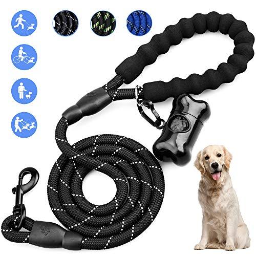 Omew Hundeline, 1,5m Starke Trainingsleine Hundeleine 100% Nylon mit Gepolsterten Griff für Kleine, mittlere und große Hunde