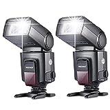 NeewerTT560 Zwei Blitzgerät Blitz Speedlite Set für Canon Nikon Sony Olympus Panasonic Pentax Fujifilm Sigma Minolta Leica und andere SLR Digital SLR Spiegelreflex-Kameras und Digitalkameras mit Single-Kontakt Blitzschuh