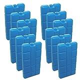 12 Stück NEMT Kühlakkus Kühlelemente je 200ml für Kühltasche oder Kühlbox bis 12 h Kühlpack Kühlakku