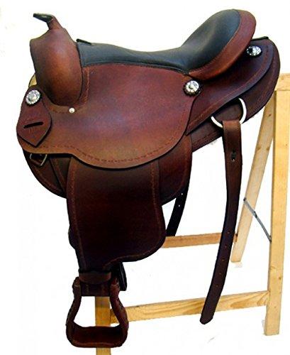 Westernsattel AUSTIN aus Büffelleder hoher Qualität Neu, Größe:16 Zoll