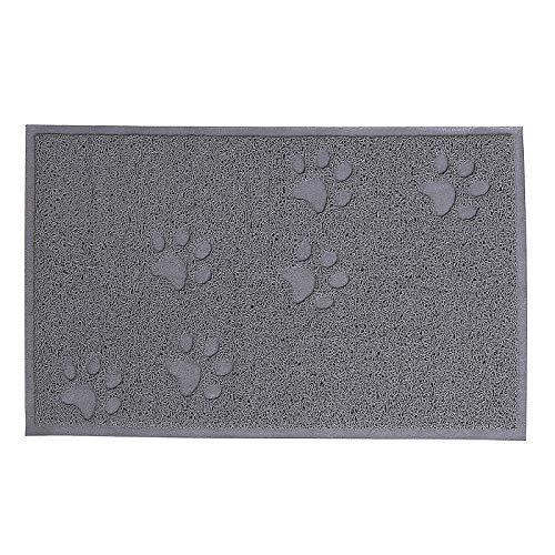 dibea CM00340, Vorleger für Katzentoilette, PVC, 33 x 45 cm, Katzenstreu-Matte fängt Streu einfach auf, leicht zu reinigen, Katzenklomatte, Katzenmatte, S