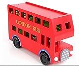 Kinder Holz Red Double Decker London Spielzeug Bus und Peg von Babyhugs