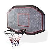 DEMA Basketballbrett mit Ring und Netz XXL