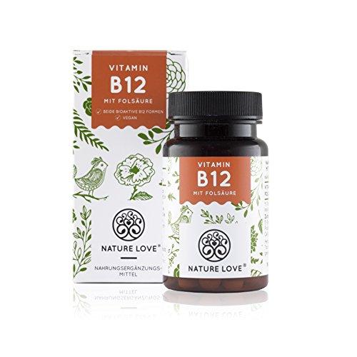Vitamin B12 Tabletten - 1000 µg (mcg). Premium-Qualität: Beide aktive Vitamin B12 Formen: Methylcobalamin und Adenosylcobalamin. 180 Stück im 6 Monatsvorrat. Ohne unerwünschte Zusätze. Vegan, hochdosiert, laborgeprüft und hergestellt in Deutschland