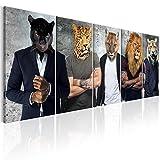 murando - Bilder Abstrakt Tiere 200x80 cm - Leinwandbilder - Fertig Aufgespannt - Vlies Leinwand - 5 Teilig - Wandbilder XXL - Kunstdrucke - Wandbild - Tier h-C-0056-b-m